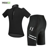 Summer Mens Cycling Sets Short Sleeve Jersey Gel Padded Shorts Bike Riding Suits