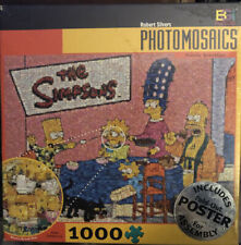 robert silvers PHOTOMOSAICS jigsaw puzzle SIMPSONS family breakfast + Poster NIB