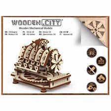 Wooden City V8 Engine Mechanical Wooden Model Kit 200pcs WR316