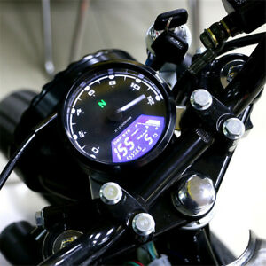 12000RPM Motorcycle Universal LCD Signal Speedometer Tachometer Odometer Gauge