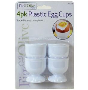 4x Egg Cup Holder Hard Soft Boiled Eggs Holders Cups Kitchen Breakfast UK