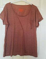 Ladies Terracota T-shirt from Primark Size 16 New