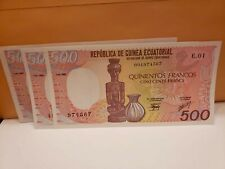 Lot Of 3 Cameroun 500 Francs 1985 ,1988,1991 P24a AU