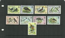 MONTSERRAT SG063-72 OHMS BIRDS SET MNH