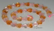 10MM  MIX QUARTZ GEMSTONE FACETED TWIST FLAT ROUND LOOSE BEADS 7.5""