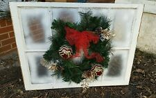VINTAGE SASH ANTIQUE WOOD WINDOW FRAME PINTEREST WEDDING CHRISTMAS WITH WREATH