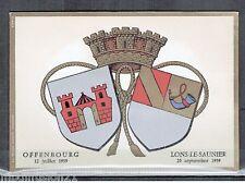 1969//FDC CP 1°JOUR!!!**JUMELAGE/LONS.LE.SAUNIER//OFFENBURG//TIMBRE Y/T.1556