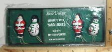 "DEPT 56 SNOW VILLAGE SERIES ""DECORATE WITH YARD LIGHTS"" SANTA & SNOWMEN ""NEW"" #1"