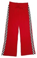 Dickies Side Checkerboard Sporty Red Knitted Sweatpants | M (28)