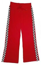 Dickies Women's side Checkerboard Sporty Red Knitted Trousers Sweatpants - M