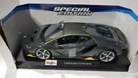 Lamborghini Centerario Metalic Gray Maisto 1:18 Scale Die Cast - NEW