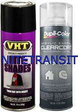 VHT Nite Shades Taillight Tint BLACK WITH CLEAR COAT  VHT SPRAY NIGHT SHADE KIT