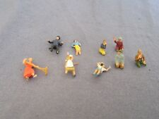 701F Lot Toy Old Starlux 9 Figurines Incomplete H 2 cm to 1,2 cm