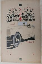 Dessin Original ARISTIDES RECHAIN Couple Voiture Automobile 1920 Argentine