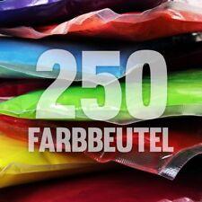 250 x Holi Pulver - Gulal - Festival Farbbeutel - Fotoshooting 10 Farben