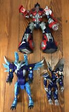 Lot Of 3 Transformers Stompin Optimus Prime Cryo Scourge & Dark Steel