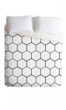 Deny Designs Allyson Johnson Honeycomb 3 Pc Set King Duvet Cover 2 Pillow Shams