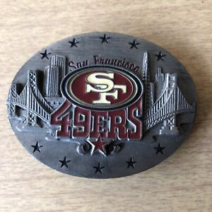 San Francisco 49ers NFL Belt Buckle Ltd Edition Siskiyou 1998 Pewter / Enamel