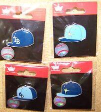 4 - Tampa Bay Rays logo baseball cap pins hat pin NEW for 2015