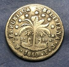 1860 Bolivia 8 Soles Silver Coin