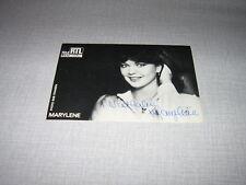 MARYLENE BERGMANN CARTE POSTALE RTL DEDICACE 2