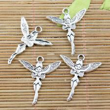 12pcs tibetan silver color fairy design charms EF2273