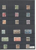 Schleswig 1920, Auswahl Einzelmarken aus Michelnummern: 1 - 28 o, gestempelt o