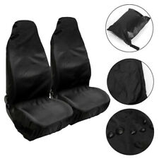 2pc Universal Car Front Seat Cover Protector Mats Washable Polyester Durable Set