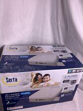 Serta Raised Pillow Top Air Mattress with NeverFlat AC Pump - Queen