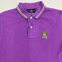Psycho Bunny Polo Shirt Mens 4 Purple Short Sleeve 100% Pima Cotton Casual Polo