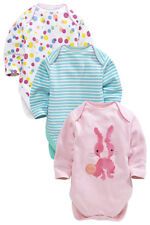 ВNWT NEXT Baby Girls • Fluro Bunny Bodysuits 3pk • 100% Cotton • 0-3 Months