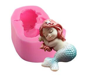 Mermaid Mold, Mermaid Silicone Mold, 3d Silicone fondant mold, Handmade Soap,Cak