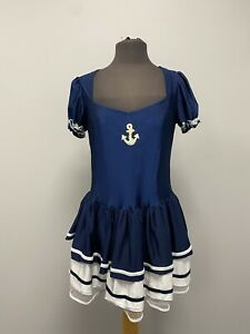 Short Sexy Blue Sailor Girl Dress Size 16 Cosplay Fancy Dress Costume