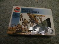 Airfix 1/72 WW2 British Paratroops Paratroopers green figures 1986 issue box