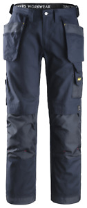 S504 - SNICKERS 3214 WORK TROUSERS NAVY. W33 L32