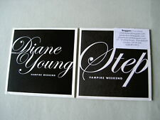 VAMPIRE WEEKEND job lot of 2 promo CDs Step Diane Young