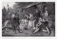 "WOW 1800s HILLINGFORD Engraving ""The Legendary, Nine Worthies"" SIGNED Framed COA"