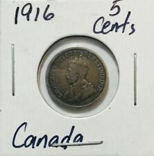 CANADA - George V - Five Cents - 1916 - Km-22 - Tiny Silver Coin