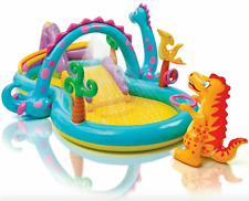 Intex Dinoland Inflatable Pool Play Center Waterslide Fun For Kids Brand New!