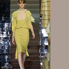 Eeo-Romance STELLA MCCATNEY Olive Flap Ruffles Dress I40 M to Small L