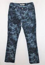 Sportscraft Brand Blue Floral Corduroy Slim Leg Jeans Size 6 #AN02