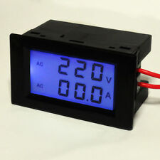 AC100-300V 0-200A Digital LCD Double DISPLAY PANEL VOLT/AMP Meter With 200A CT