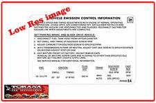Decal, Emission Control Label (EA) for Torana and Holden 5.0Lt (Jul 76 - Jun 77)
