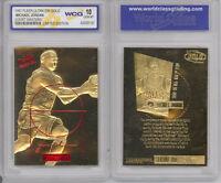 1996 97 NBA MICHAEL JORDAN FLEER ULTRA COURT MASTER 23K GOLD CARD Graded 10