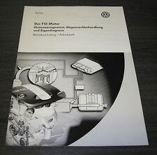 Betriebsschulung VW Golf 4 IV 1J FSI Motor Management Abgasnachbehandlung