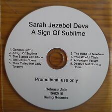 Sarah Jezebel Deva - A Sign of Sublime Promo Album (CD2010) Collectable Metal CD