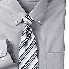 CUSTOM MADE Oxford Mens Dress Shirts,Slim Fit 100% COTTON  Blue White Striped