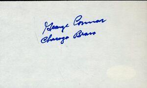 George Connor Hof Signed Jsa Cert Sticker 3x5 Index Card Authentic Autograph