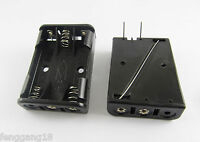 1x 3X AAA 3A Battery Holder Box Case 4.5V W/ 2 PCB Pin Needles Connecting Solder