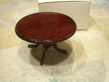 Concord Dollhouse Furniture Round Cherry Table No.6314 M/Ob! Beautiful, Lqqk!